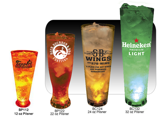 Light Up Pilsner Cups with Any Design You Choose