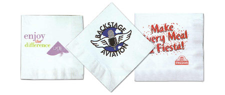 Custom-Imprinted Luncheon Napkins with Any Design You Choose