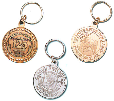 Metal Coin Key Tags