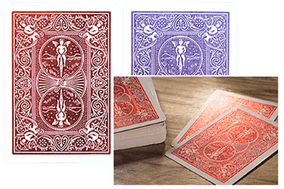 Bicycle MetalLuxe Playing Cards, Cobalt or Crimson