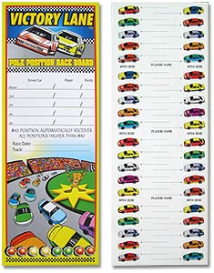 Nacsard Boards/Car Race Betting Cards