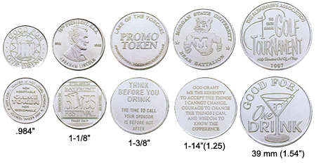 Natural Aluminum Coins and Tokens
