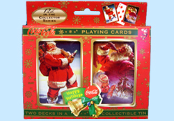 Coca Cola Santa Playing Cards in Collectible Tins