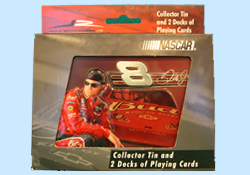 Dale Earnhardt Jr in Collectible Tins