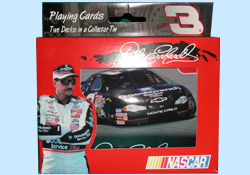 Dale Earnhardt Sr Playing Cards in Collectible Tins