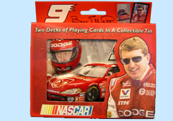 Bill Elliott Playing Cards in Collectible Tins