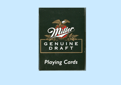 Miller Genine Draft Playing Cards