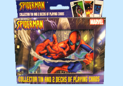Spider man Playing Cards in Collectible Tins