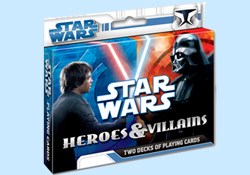 Star Wars Heros and Villans Playing Cards