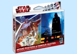 Star Wars Movie Poster and Famous Quotes Playing Cards
