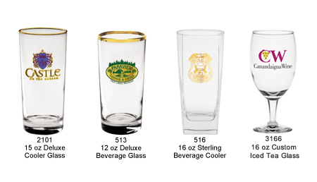 Custom Imprinted Beverage and Cooler Glasses