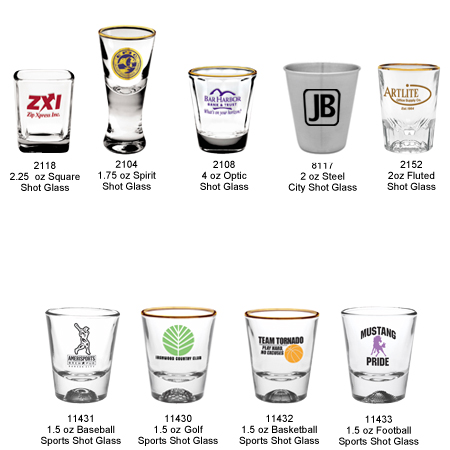 Custom Printed Shot Glasses