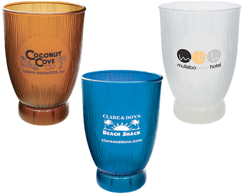 Plastic 18 oz. Tropical Coconut Cups