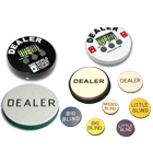 Poker Dealer Buttons, Dealer Pucks, and Lammers