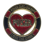 Poker Guard Cut Out Heart Gold