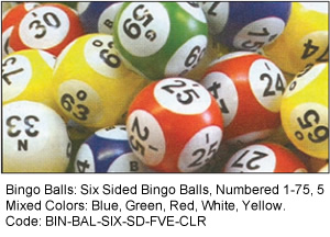Six Sided Professional Bingo Balls