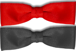 Red Clip-On Dealer Bow Tie