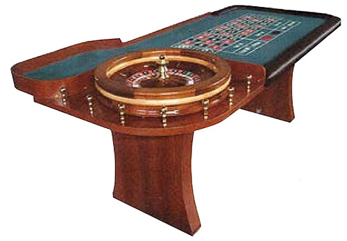 ROU1210 Wooden Slab Leg Roulette Table