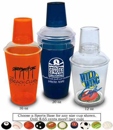 Custom-Imprinted Cocktail and Pub Shakers