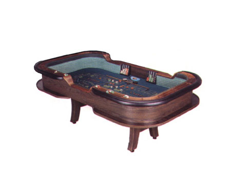Casino Style Wood Craps Tables with H-Style Legs