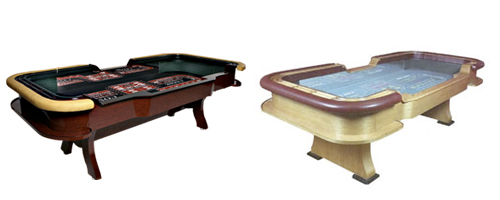 Stationary Craps Tables