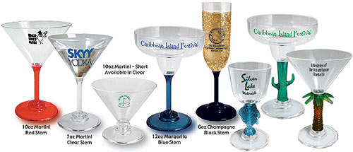Custom Imprinted Plastic Glassware