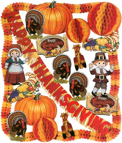 Thanksgiving theme decorating kit regular or flameproof Happy thanksgiving decorations