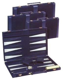Blue Velour - Designer Backgammon Sets
