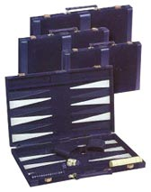 Blue Velour Designer Backgammon Sets