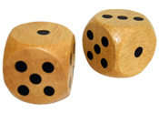 1 inch wood dice