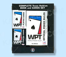 World Poker Tour Book Sets with 2 Decks of WPT Playing Cards
