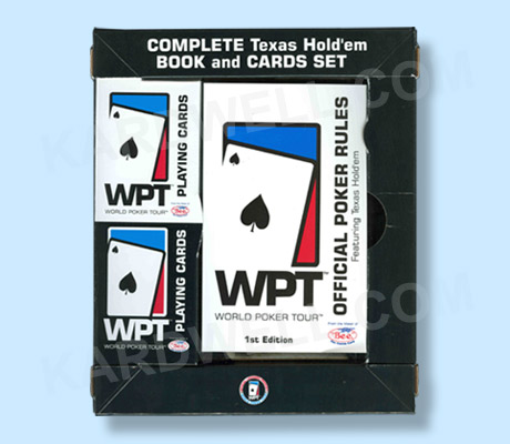 World Poker Tour Texas Hold'Em Book and Cards Set