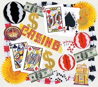 casino theme decorating kit - Casino Decorations