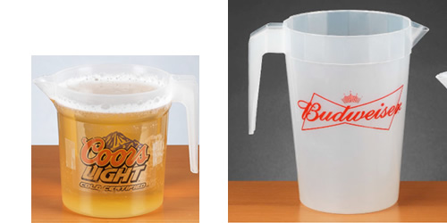 Large 64 oz Plastic Budweiser Bud Light Pitcher