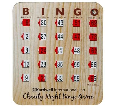 Custom Bingo Slide Cards
