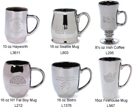 custom ceramic mugs with steel color ceramic mugs with look of