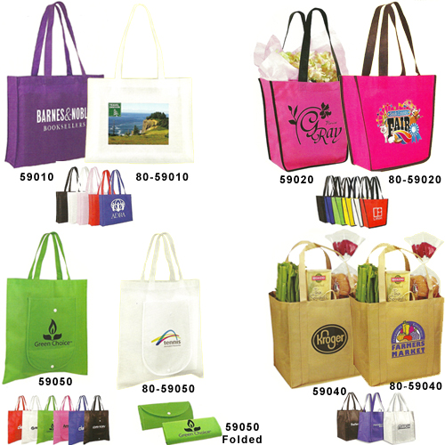 Custom Tote Bags: Custom Tote/Shopping Bags with Your 1-4 Color Design