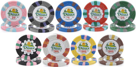 Casino poker chips made out mountaineer race casino