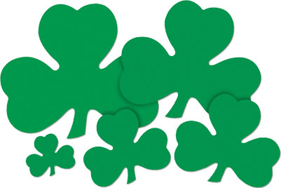 saint patricks day shamrocks per 48 9 inch cut outs - St Patricks Day Decorations
