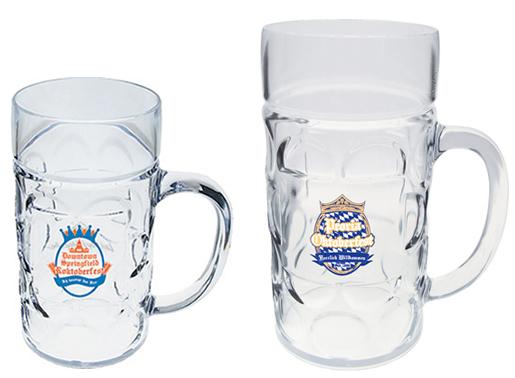 half and 1 liter german beer mugs plastic german style beer mugs with your design. Black Bedroom Furniture Sets. Home Design Ideas