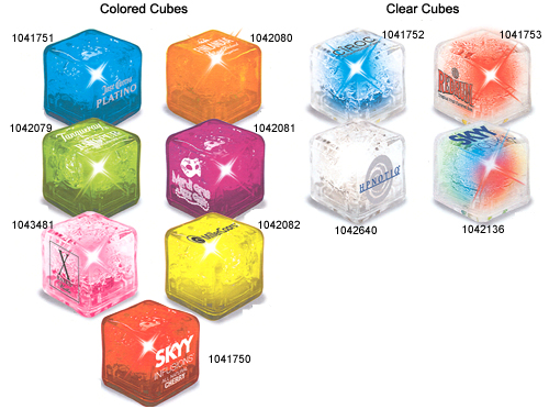 lighted crystal ice cubes light up your drink with these lighted