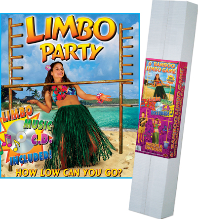 6 foot bamboo limbo game for outdoor use - Luau Decorations