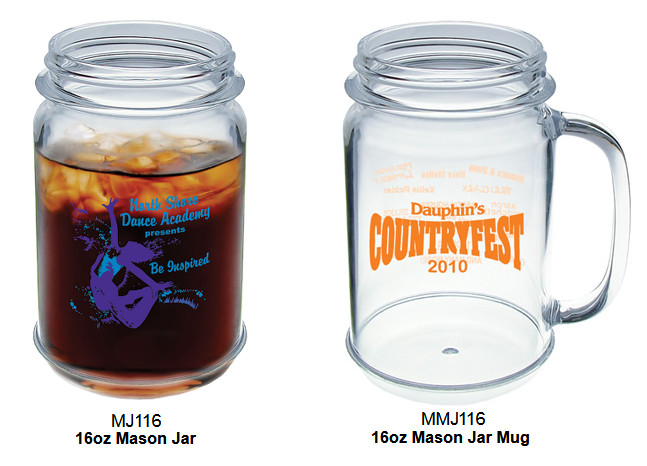 custom plastic mason jar mugs these 16 oz custom mason jar mugs