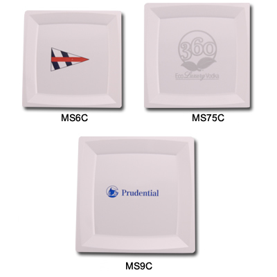 Custom Imprinted Plastic Plates (Available in Clear Only)  sc 1 st  Kardwell & Custom Square Plates: Milan Style Custom Square Plastic Plates