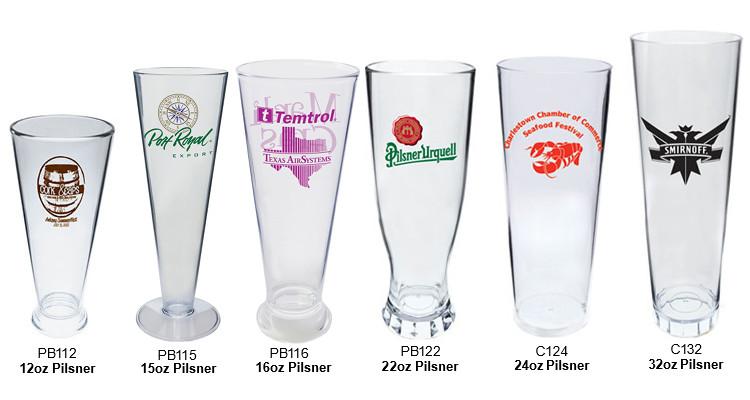 Custom-Imprinted Pilsners: 22 oz  Plastic Pilsner Custom-Imprinted