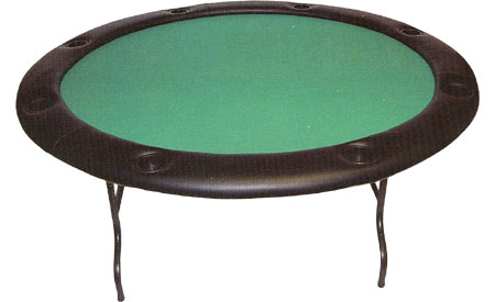 Round Poker Table With Folding Metal Legs