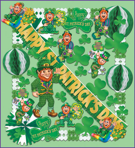 St patrick 39 s day party kits feature irish derby hats for Decoration saint patrick