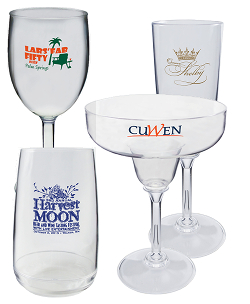 Custom Imprinted Plasticacrylic Glasses Your Design And Message