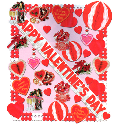 valentine s day decorations romantic theme decorating kits with